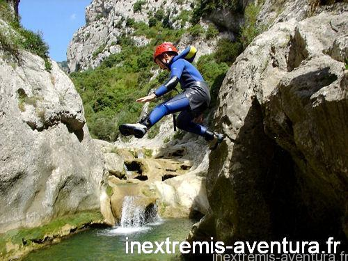 CANYONING IN GORGES DE GALAMUS (special families)