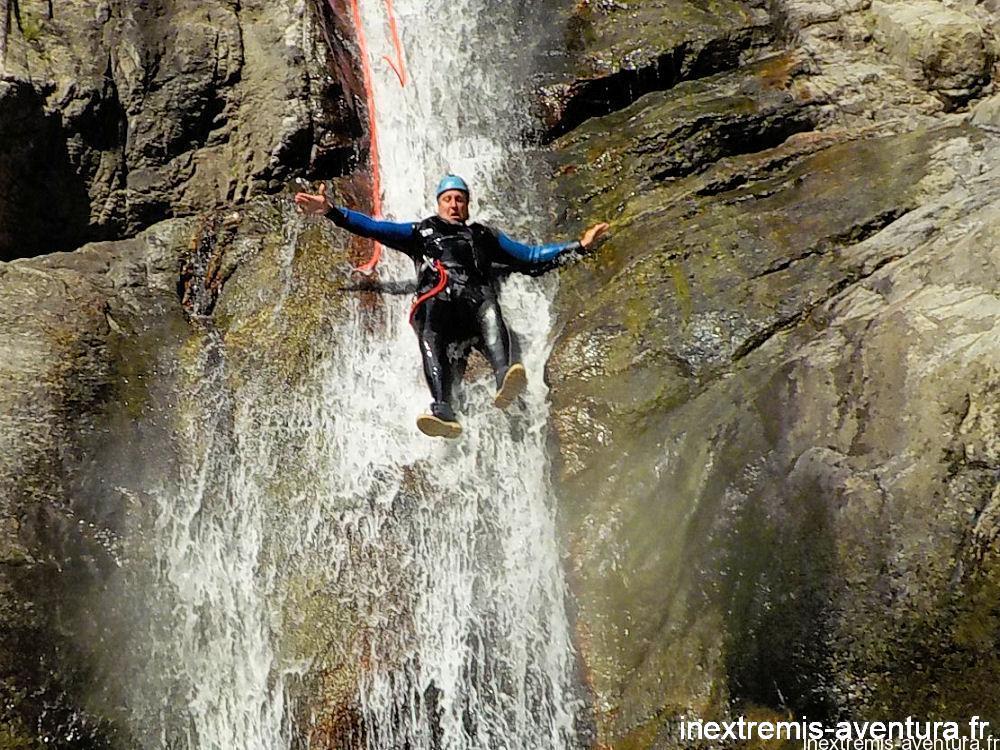 Canyoning Ceret Gourg des Anelles - Rappel Toboggan