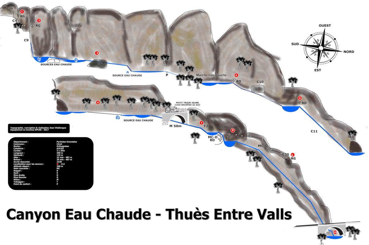 Topographie Canyon Eau Chaude - Thuès Entre Valls